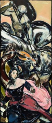 """La Bella Tenzone"" 260 x 110 cm Öl auf Leinwand 2021"