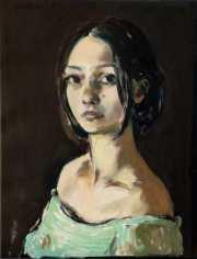 """""""Bildnis einer jungen Frau"""" 57 x 43 cm Öl auf Leinwand 2021"""